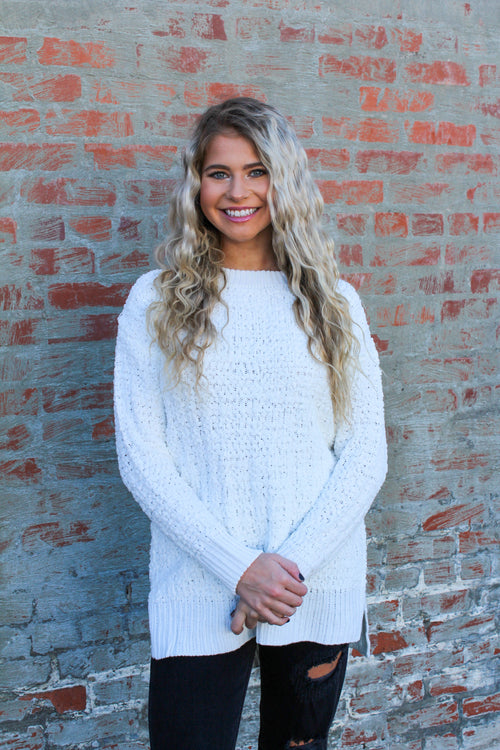 Snuggle Up Sweater in Ivory