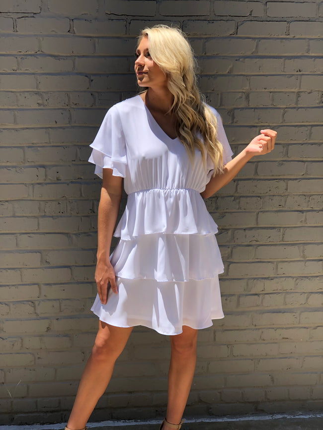 Feeling Bubbly Dress in White