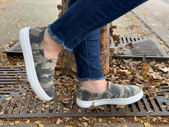 Get A Move On Sneaker In Camo