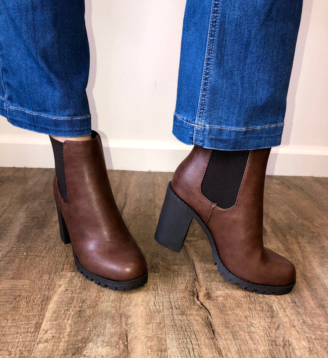 Boot Camp Bootie in Brown