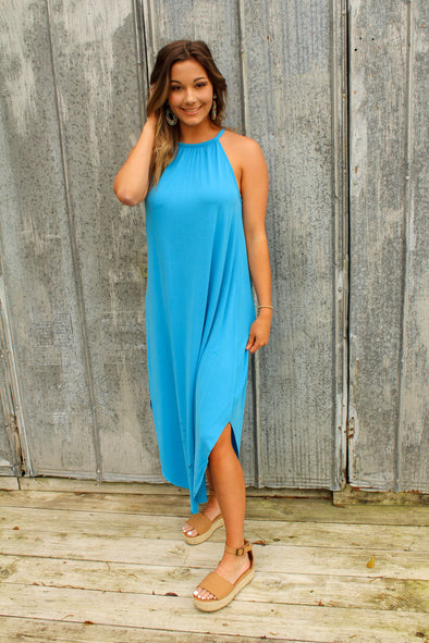 String Me Along Maxi in Blue