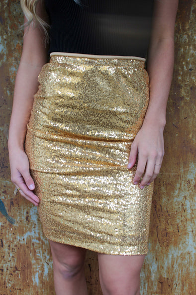 Sequins Of Events Skirt in Bronze