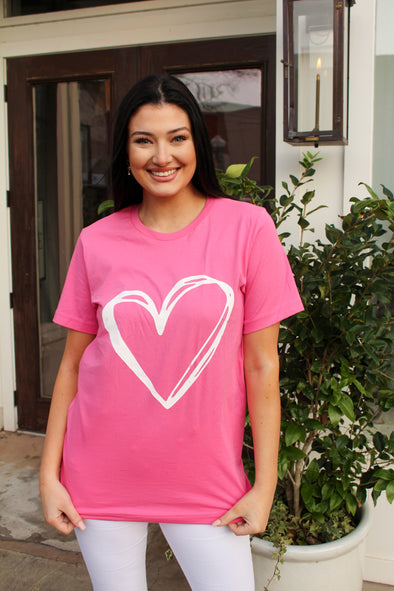 Valentines Day Tee in Pink