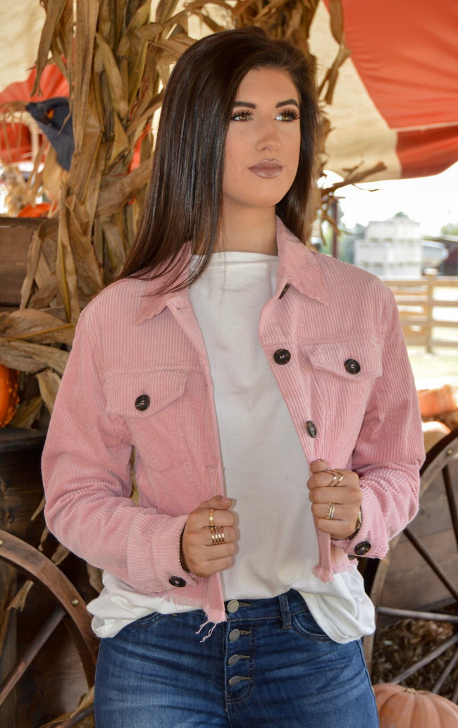 Strike A Cord Jacket in Pink