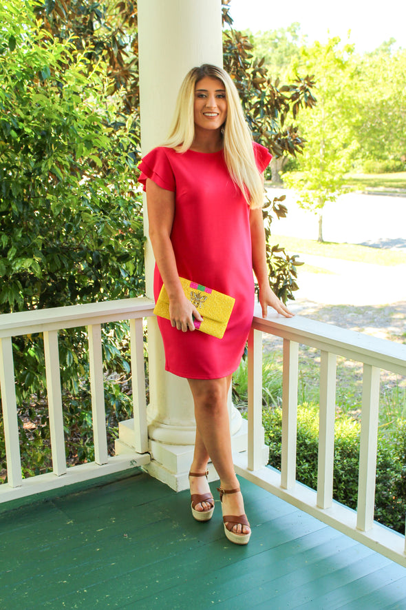 Your Best Fit Dress in Fuchsia