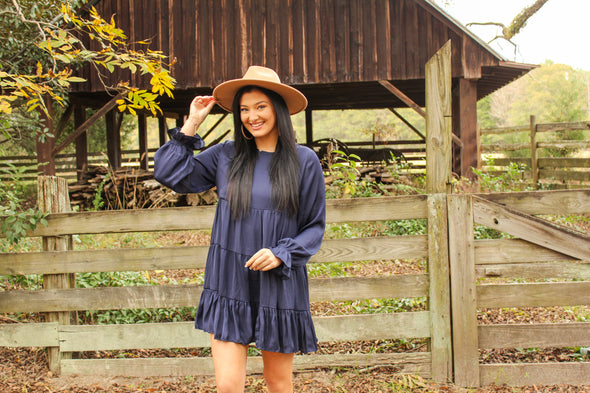 Sweet As Pie Dress in Navy