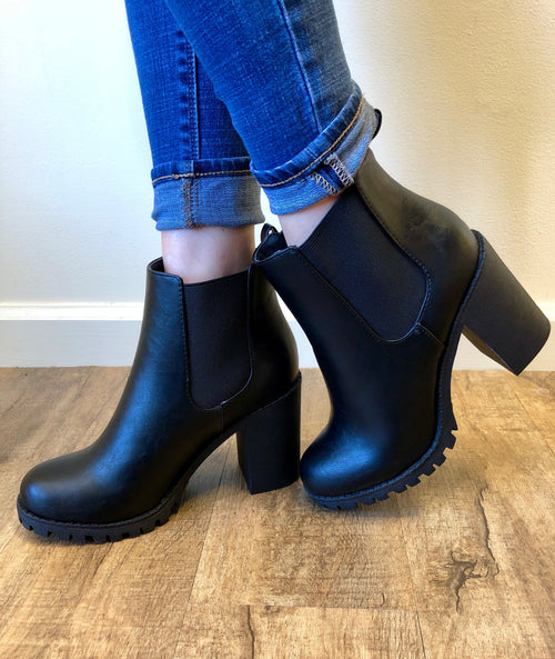 Boot Camp Bootie in Black