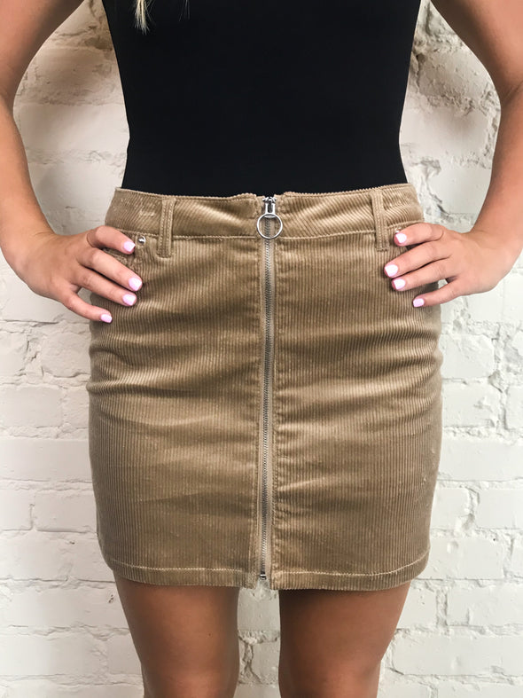 Ring True Skirt in Khaki