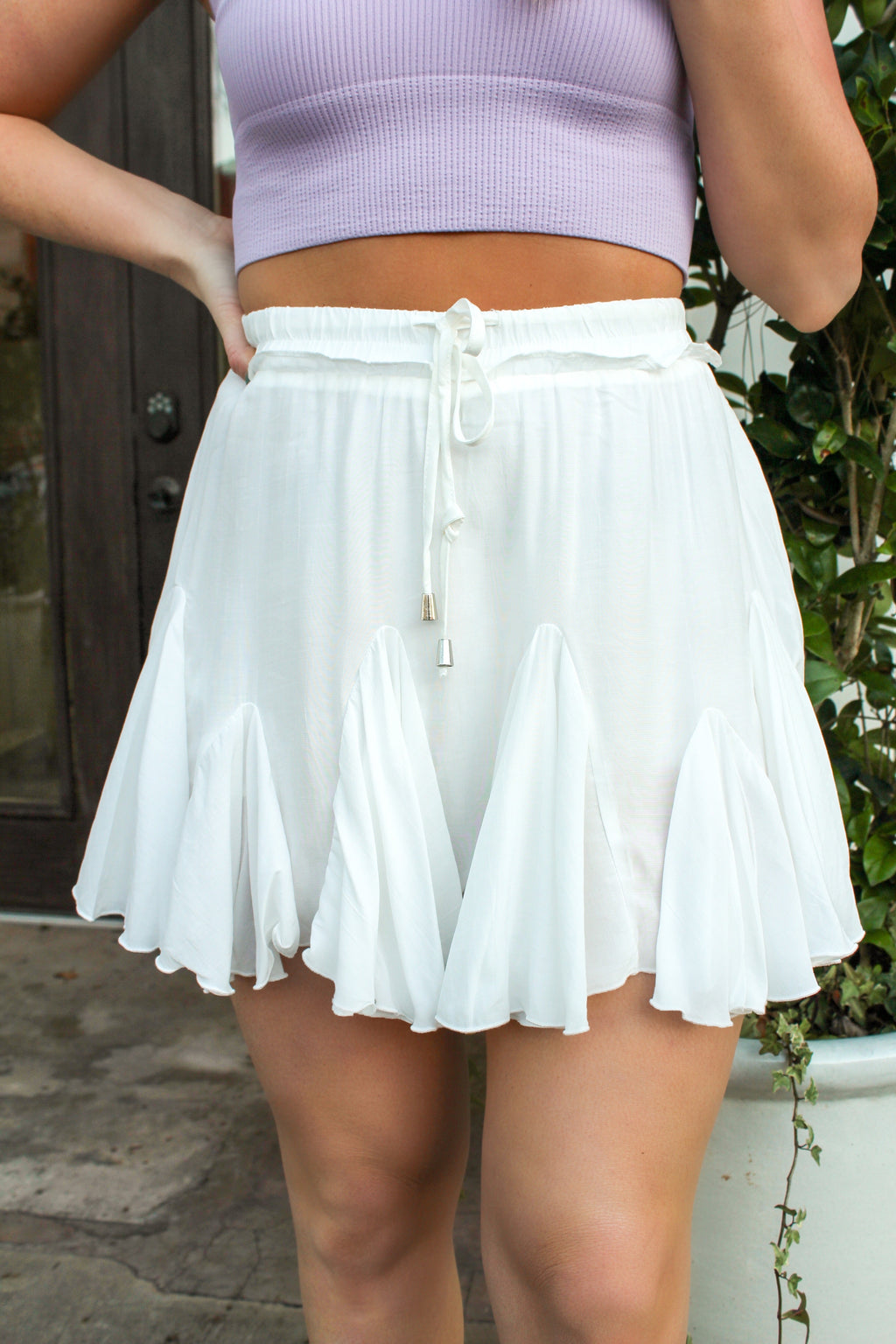 Breeze Through Life Skirt in White