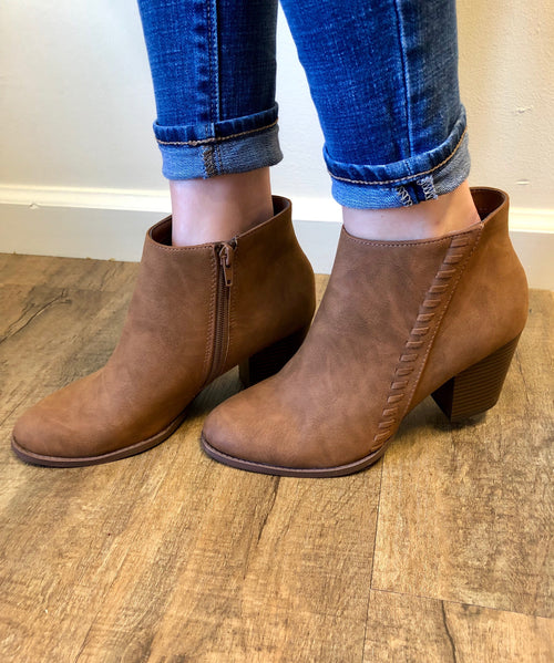 Kicking Around Bootie in Tan