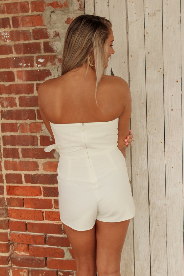 See it Happen Romper in White