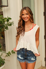 Bring On The Sunshine Crop Top in White