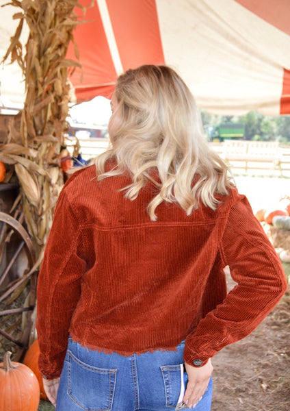 Strike A Cord Jacket in Rust