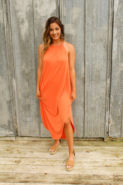 String Me Along Maxi in Coral