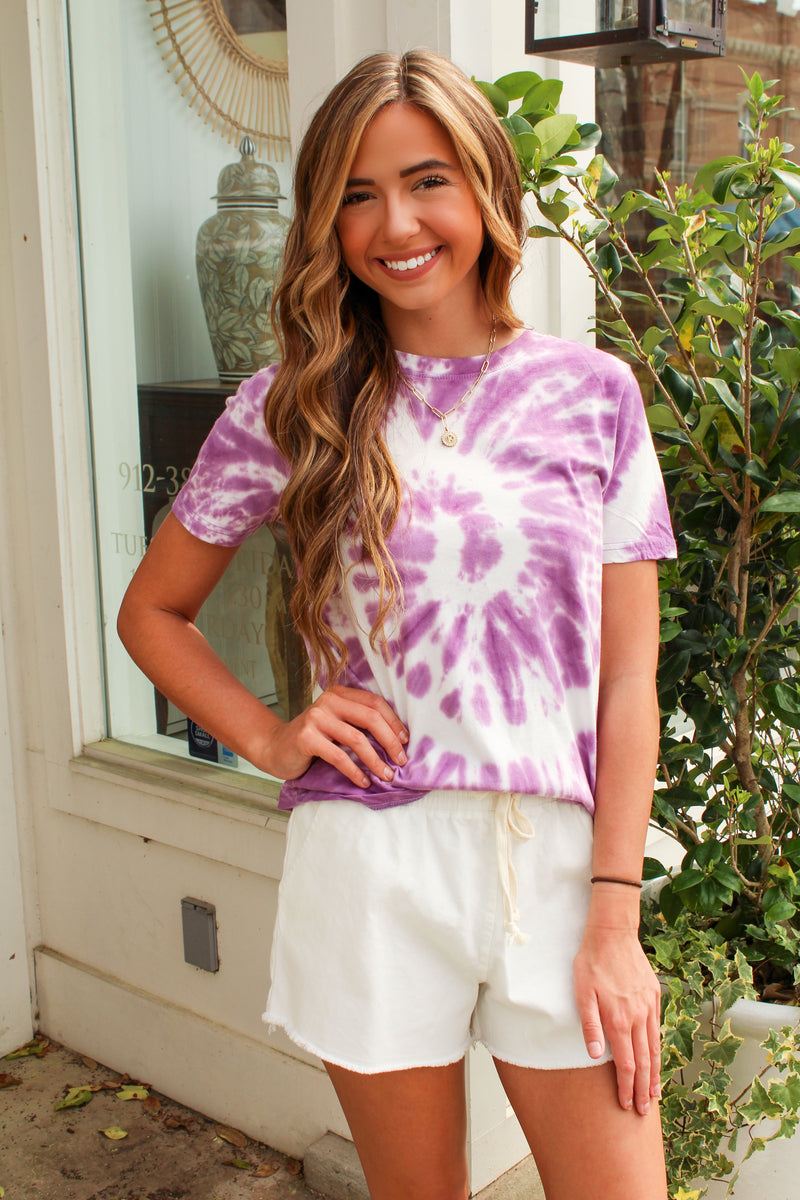 Tied Up Tee in Purple