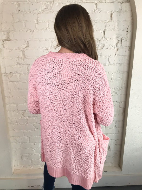 Sweep Me Away Cardigan in Pink