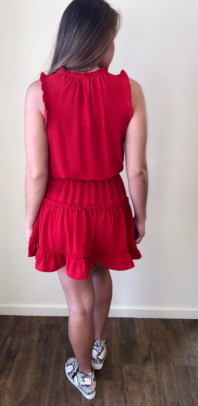 Perfect World Dress in Red