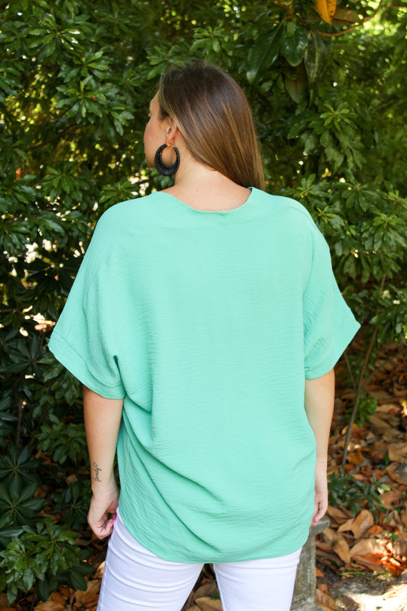 Meet My Friends Top in Seafoam