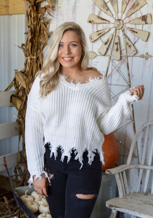 It's My Time Sweater in Ivory