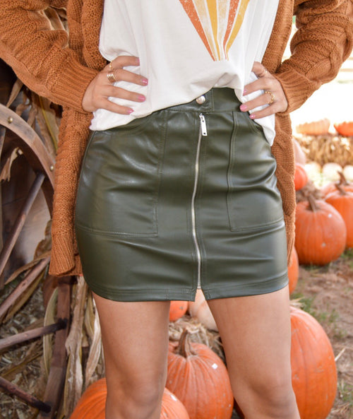 Ready To Go Skirt in Olive