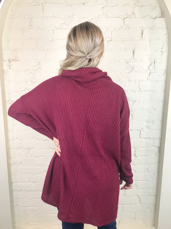Fall Morning Top in Dark Burgundy