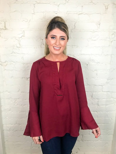 More Than Enough Top in Burgundy