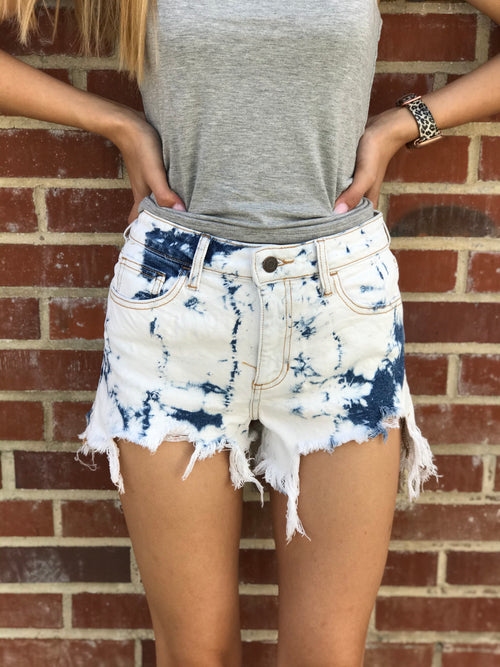 Splash Into Spring Denim Shorts