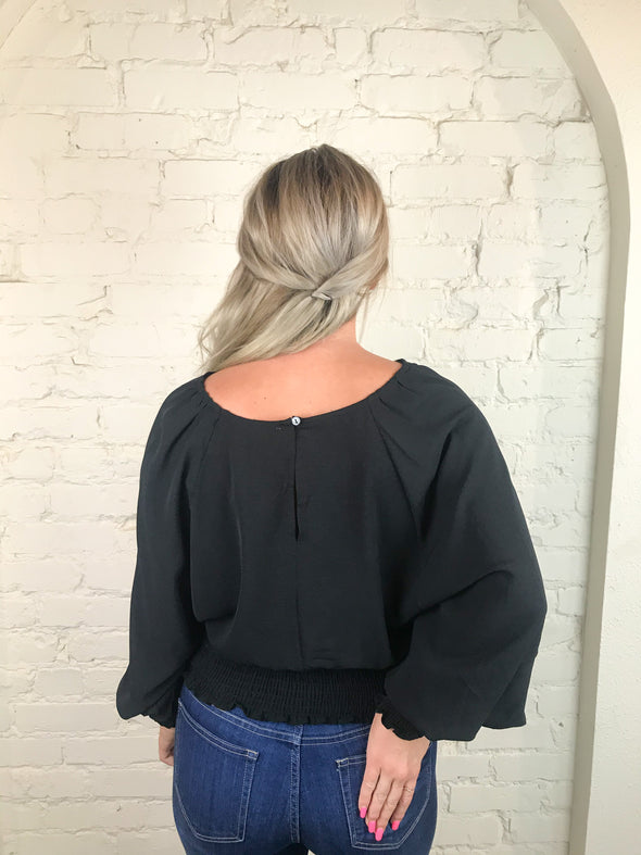 You'll Love Me Top in Black