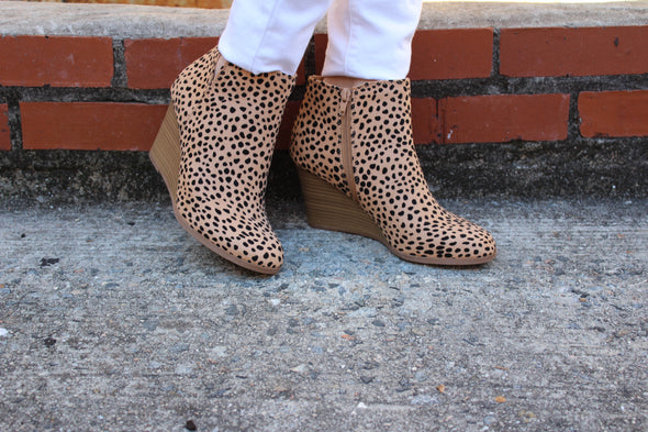 Natural Attraction Wedge Bootie