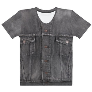 Faux Gray Denim T-En Vogue. Preorder.