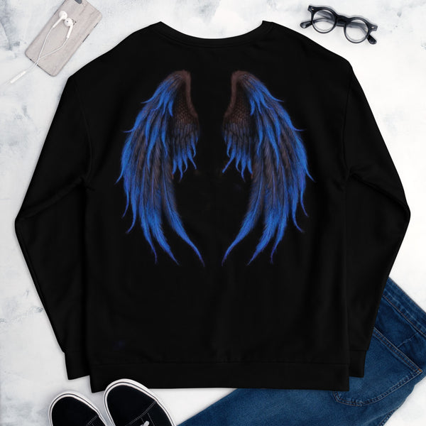 Unisex Blue Wings Printed Tralala. Give me wings, let me fly, let me touch the sky.Pre-order.