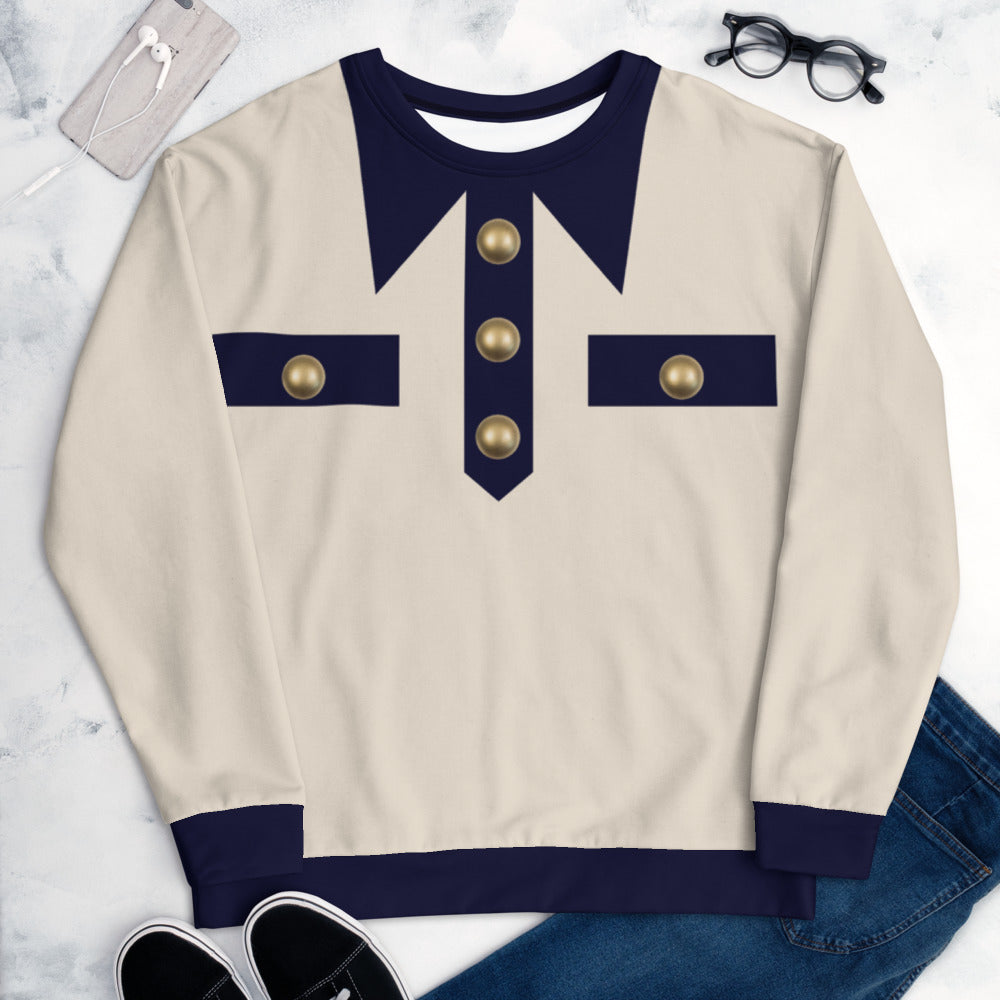 Faux White Jacket and Gold Buttons S-En Vogue. Pre-order.