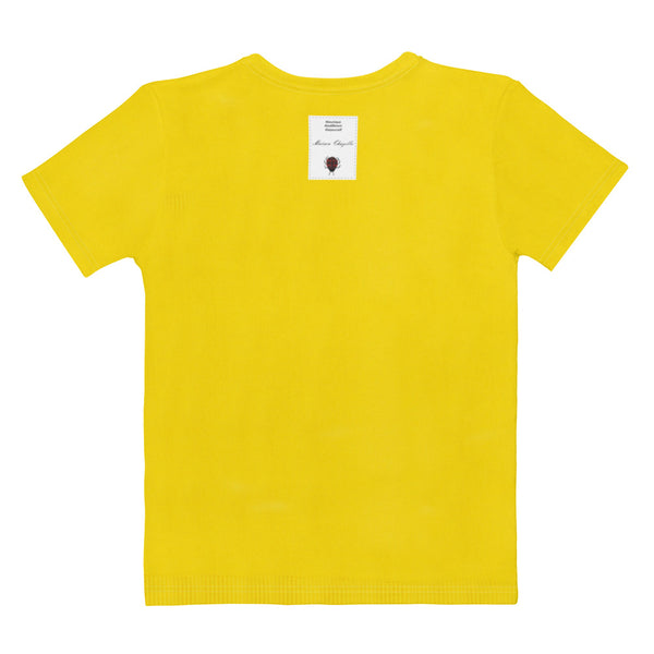 Faux Jewelry on a Yellow T-En Vogue. Pre-order.