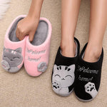 Womens Winter Cat Slippers - Bow Chicka Meow Meow
