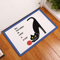 Waterproof Door Mat - Bow Chicka Meow Meow