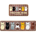Brown Cat Floor Rugs - Bow Chicka Meow Meow