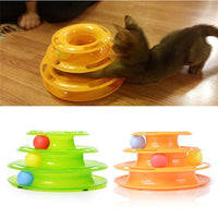 Plastic Three Level Ball Toy - Bow Chicka Meow Meow