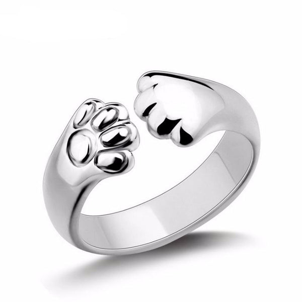 Cute Cat Paw Ring - Bow Chicka Meow Meow