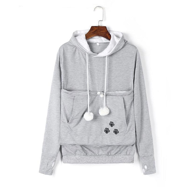 Cat Pouch Hoodie - Bow Chicka Meow Meow