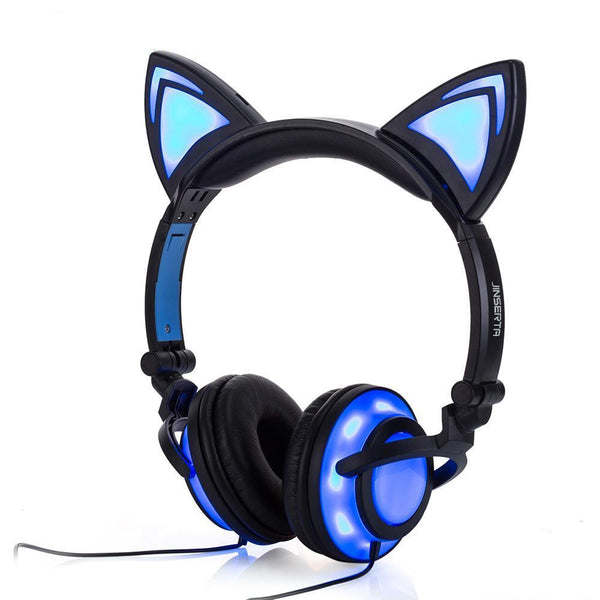 LED Kitty Gaming Headphones - Bow Chicka Meow Meow