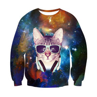 Cool Sweatshirts 3D Cats - Bow Chicka Meow Meow