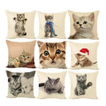 Printed Cat Pillow Case - Bow Chicka Meow Meow
