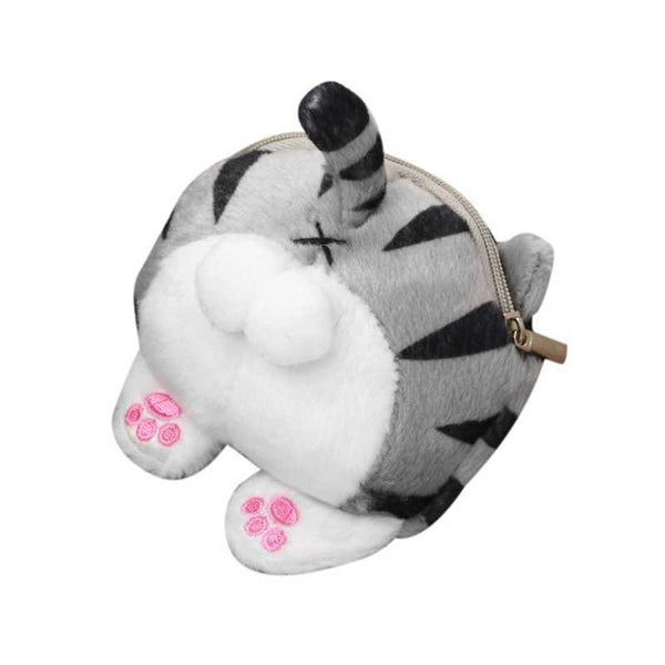 Kawaii Cat Butt Coin Purse - Bow Chicka Meow Meow