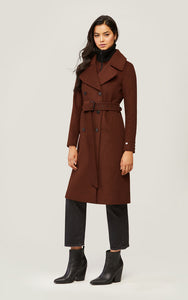 Damara detachable wool coat