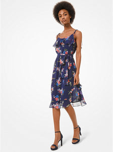 Floral Georgette Ruffled Dress