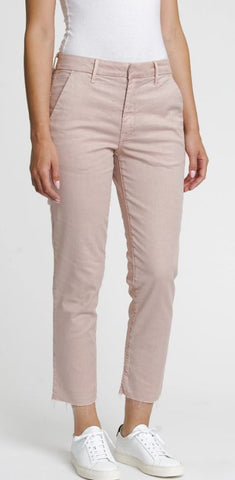 Chino with raw hem in Vintage Rose