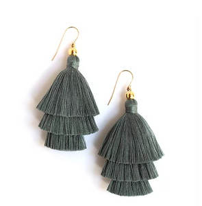 Mary Tiered Tassle Earring