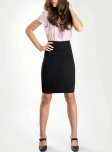 Tummy Tucking Waist Panel Skirt