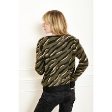 Load image into Gallery viewer, Korilia Jacquard Tiger Cardi