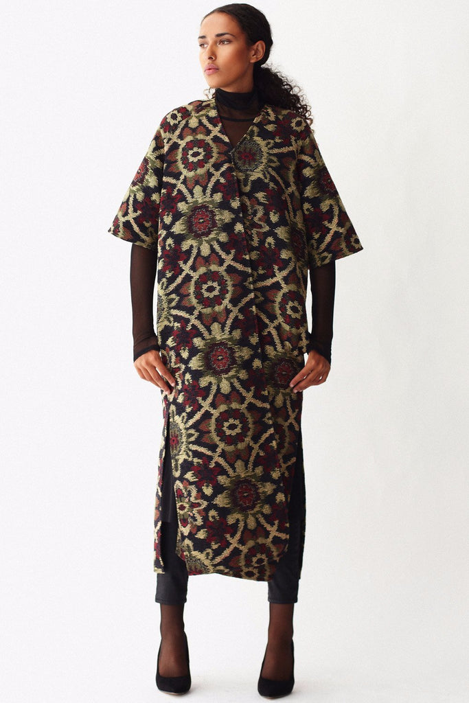 KAI & KLO full length brocade jacket.